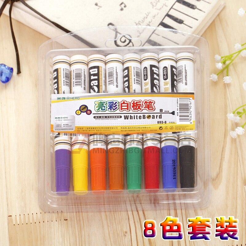 f4b508355 QSHOIC 8 ألوان/مجموعة اللوازم المدرسية لوحة بيضاء مجموعة أقلام السبورة صانع  مجموعة أقلام سهلة