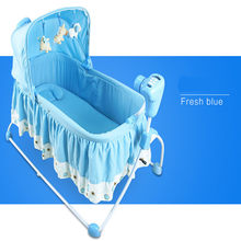 2016 Real Cribs For Twins Babies Kids Sleeping Bags Pillow Baby Beds Baby Rocking Chair Super Design With Music Jumpers Swings(China)