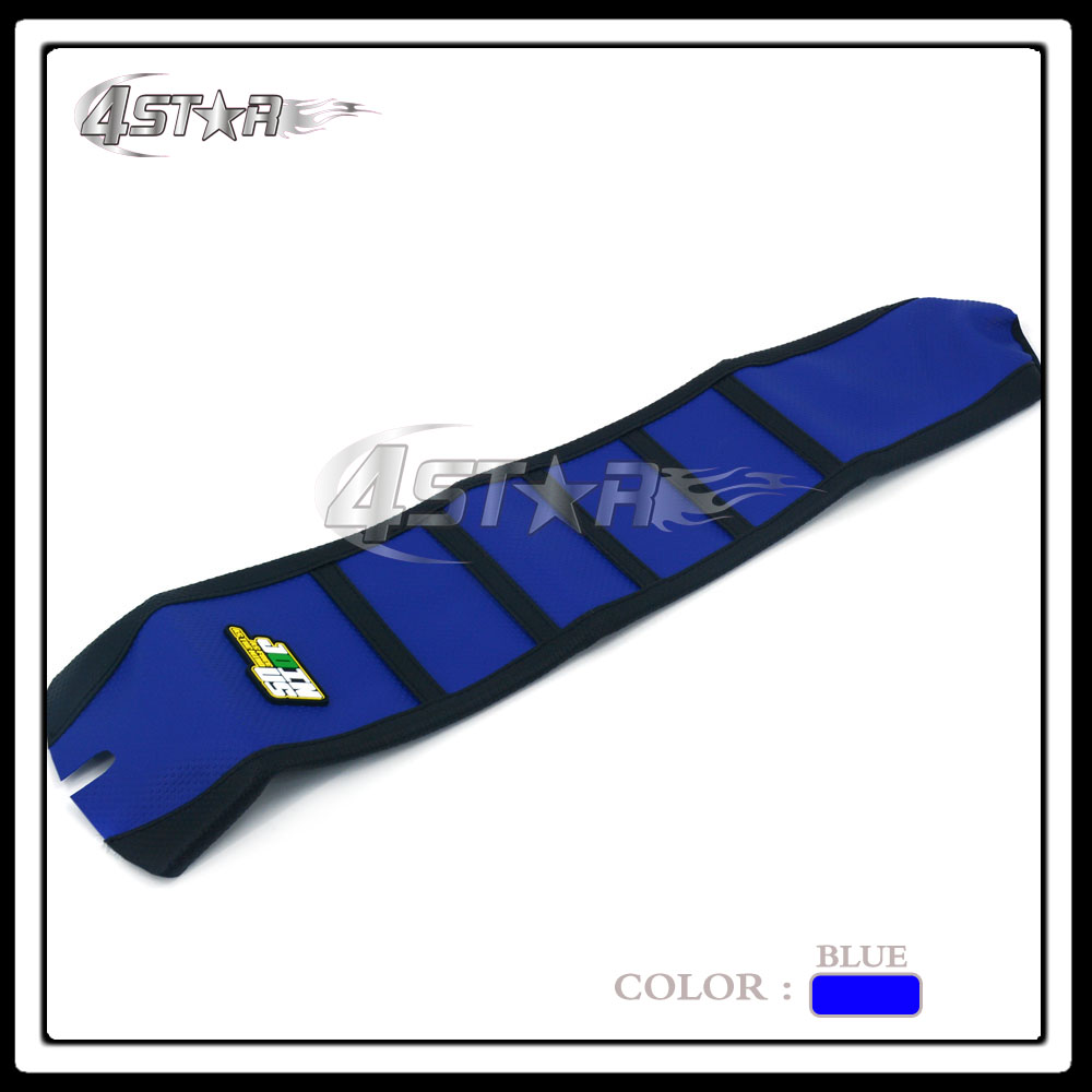 Blue And Black Rubber Motorcycle Gripper Soft-Grip Seat Cover Moto Part For TE FC TXC 250 310 2009 2010 2011 2013 2012
