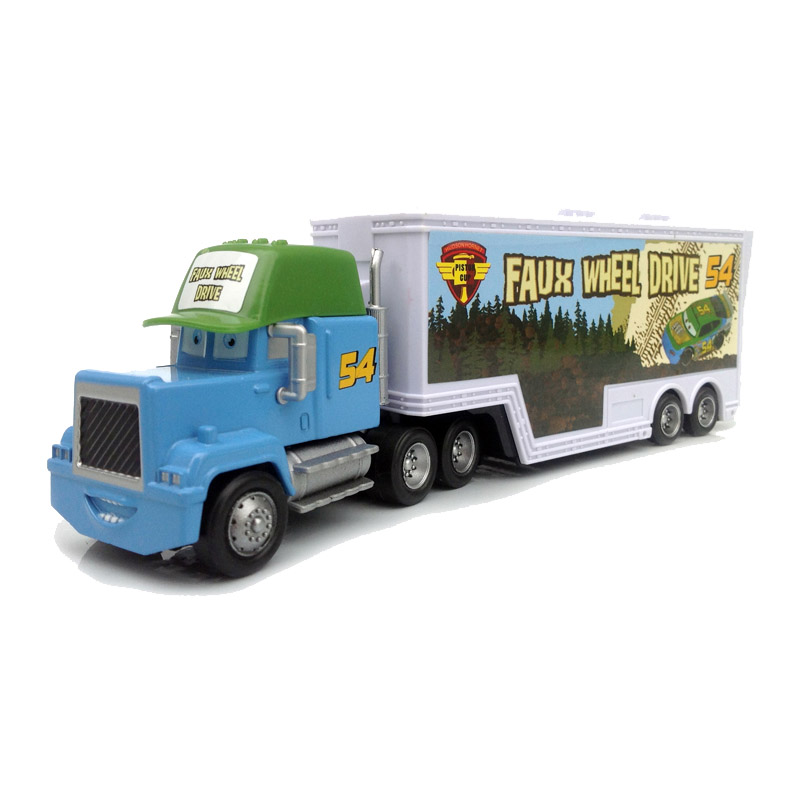 brand new metal no54 race car driver container truck model vehicle toy for kids