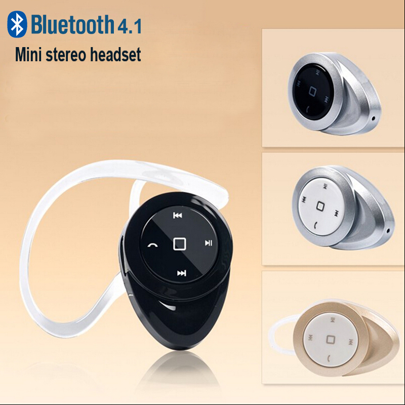 Mini Bluetooth V4.1 Wireless Headset Handsfree Earphone Stereo Headphones Earbud for Samsung S6 Note 4 5 iPhone Samsung Earhook remax t9 mini wireless bluetooth 4 1 earphone handsfree headset for iphone 7 samsung mobile phone driving car answer calls