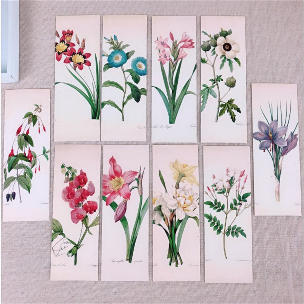 32Pcs/Set Plant Leaves Flower Bookmarks Paper Book Markers Reading Supplies Stationery School Supplies Students Gifts