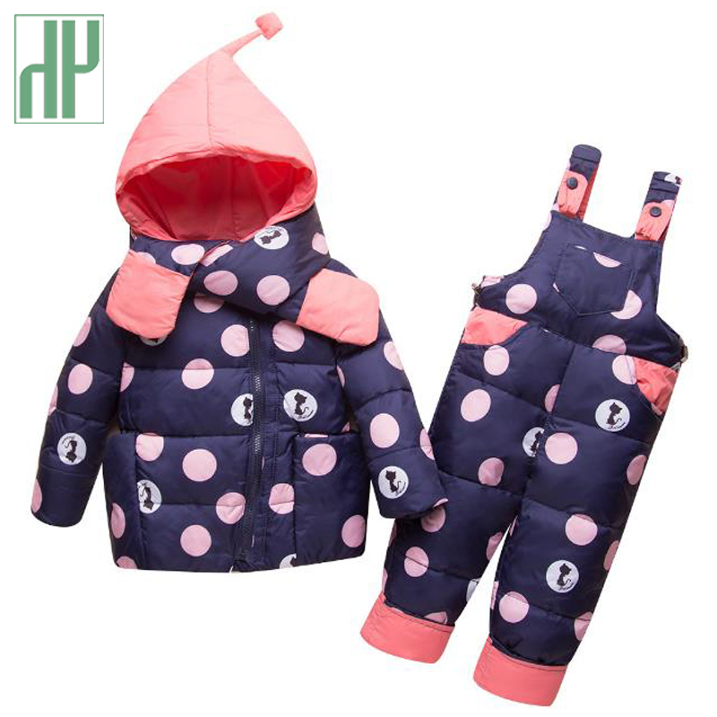 Kids winter clothes Jacket+Trousers Baby Boys Down suit fall toddler girls boutique outfits children clothing set 1 2 4 years