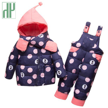 Kids winter clothes Jacket+Trousers Baby Boys Down suit fall toddler girls boutique outfits children clothing set 1 2 4 years цена в Москве и Питере