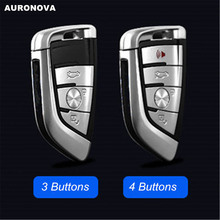AURONOVA New Replace Smart Key Shell for BMW 1 2 7 Series X1 X5 X6 M3 M5 M6 Car 3/4 Buttons Remote Case DIY