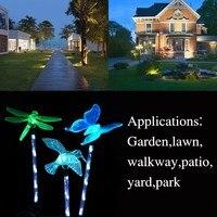Wodoodporna 1 Zestaw 3 SZTUK Solar Butterfly Dragonfly Ptak Solar Ścieżka Światła LED Światła LED Na Zewnątrz Ogród Trawnik Trawnik Krajobraz lampa
