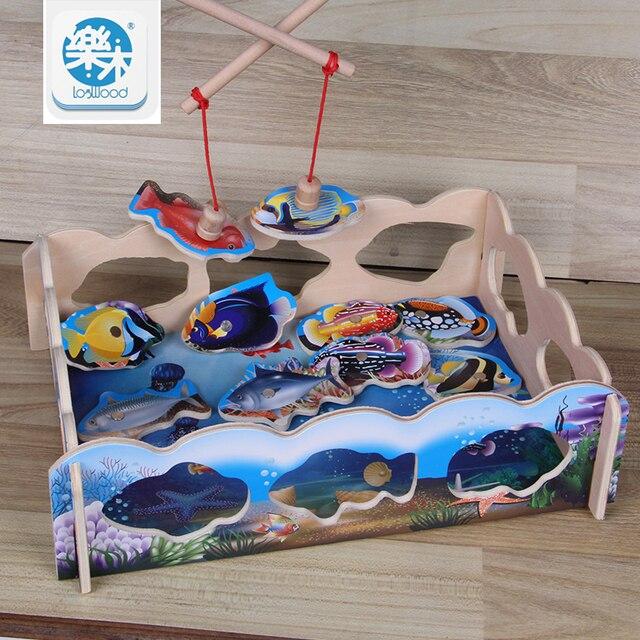 Magnetische Gaan Vissen Board Game Hout Speelgoed Baby Intelligentie