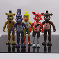 2016 New FNAF 5.5 Inch Five Nights At Freddy's PVC Action Figure Toy Foxy Gold Freddy Chica Freddy With 2 Color LED Lights