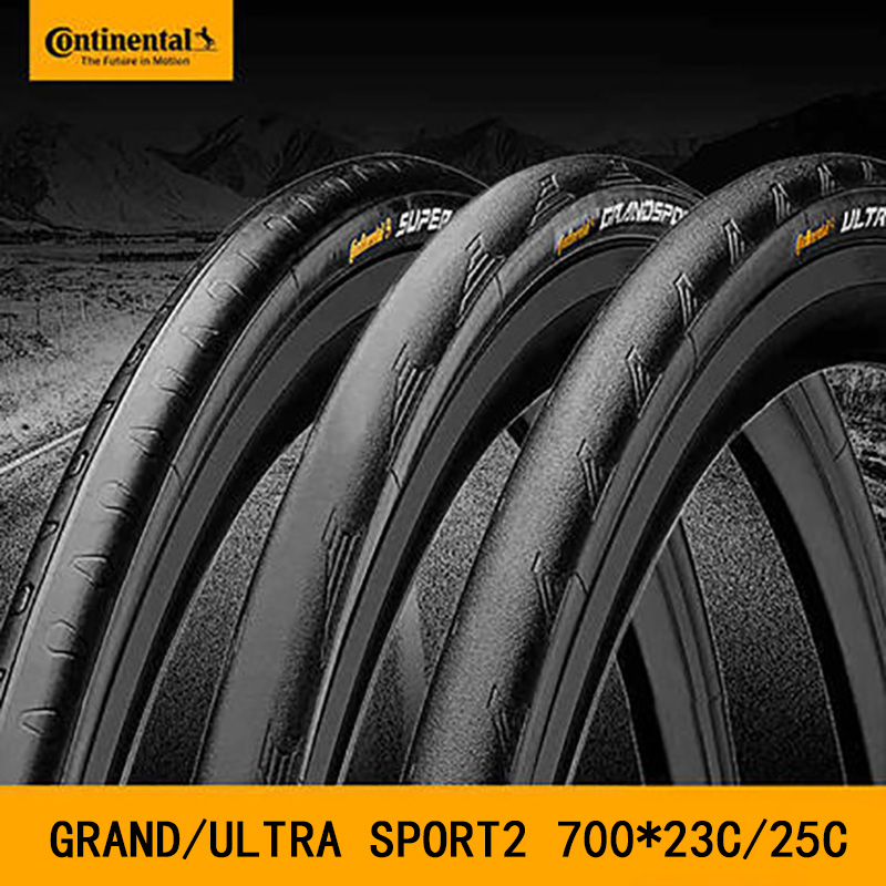 Continental Grand Sport / Ultra Sport2 Bicycle Tyre 700*23/25C Road Bicycle Bike Tire 60tpi Folding 120 Psi 1 Tire