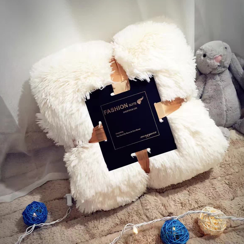 Hiver Double couche Style Noridic en peluche voyage jeter corail polaire flanelle couverture canapé voiture couverture lit feuille sieste chaud jeter