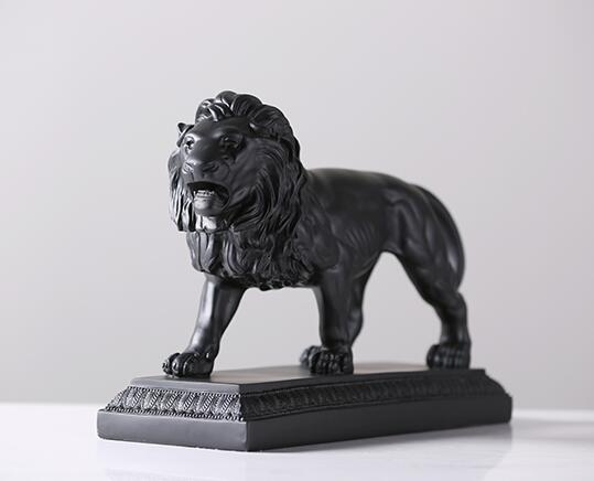 resin room decoration lion figurines home decor resin animal figurine crafts objects vintage lion statue ornament