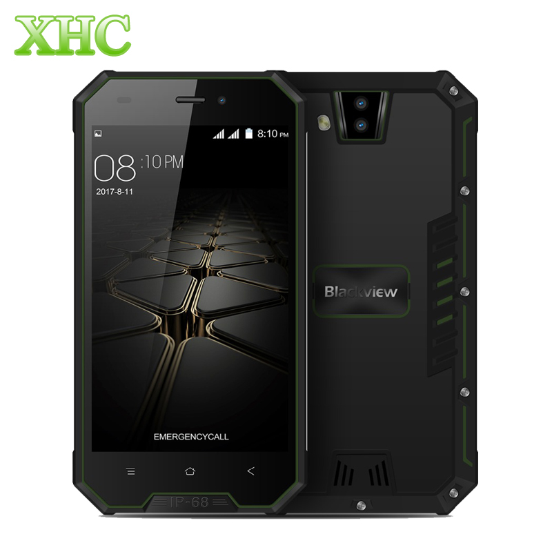 Original Blackview BV4000 IP68 Waterproof Smartphone Android 7.0 1GB+8GB Dual Rear Cameras Cellphone 4.7'' Dual SIM Mobile Phone