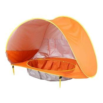 Portable Children's ocean outdoor sun protection pool beach castle ball pool toy house 3