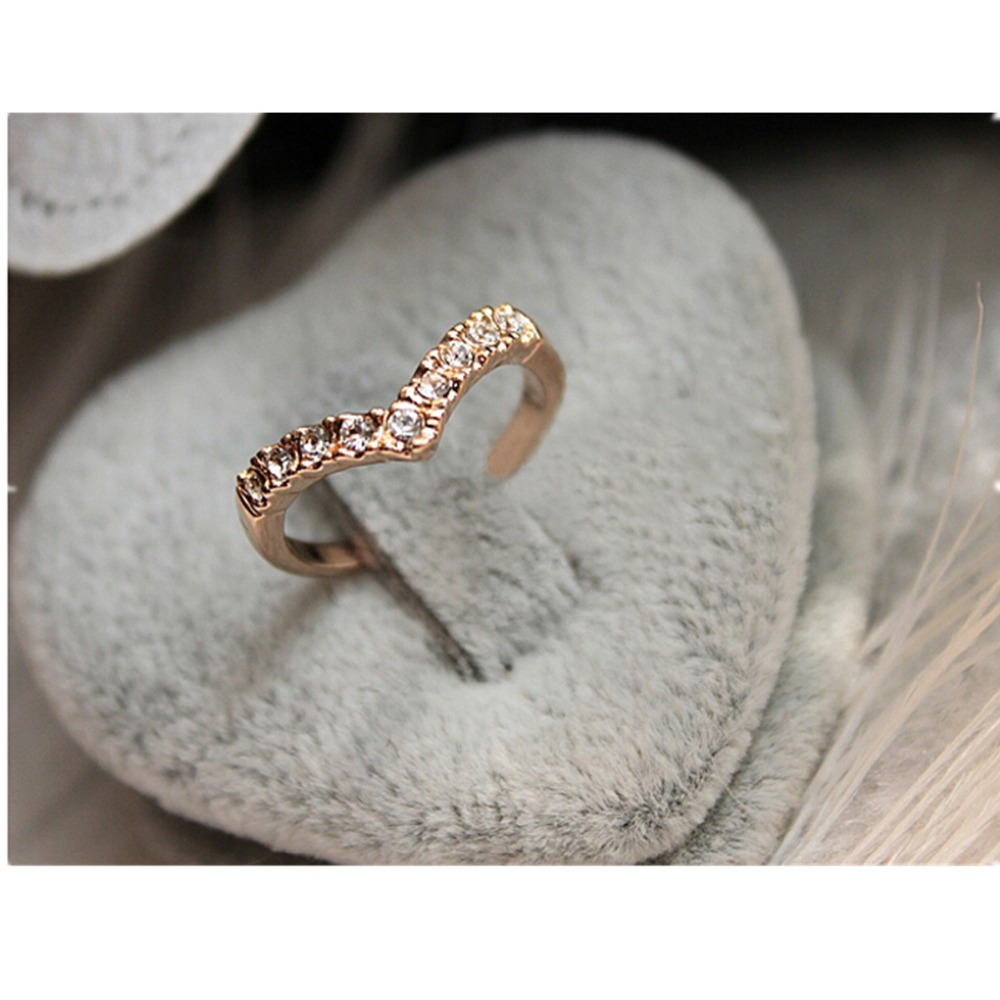 One Direction Hot Fashion Girl Rings Bijoux New Simple V Finger ...