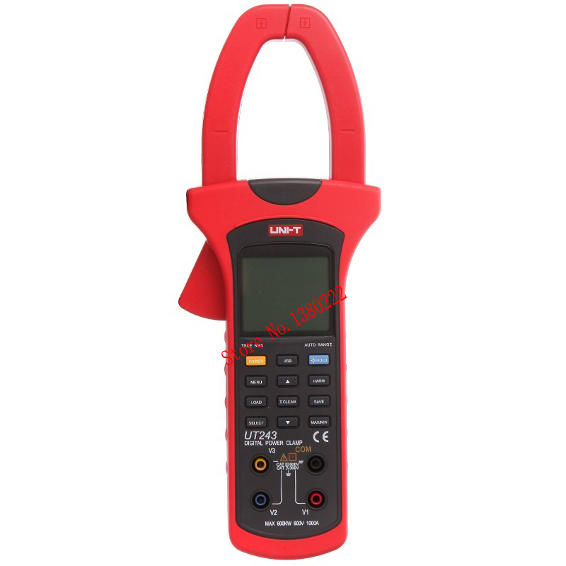 UNI-T UT243 TRUE RMS Power and Harmonics Analysis clamp meter Digital multimeter  3 Phase 600V /1000A