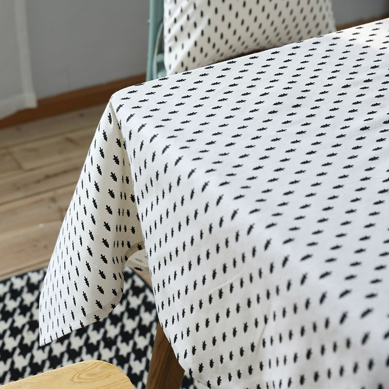 Mantelería de lino Mantelería de estilo nórdico norte estampado - Textiles para el hogar - foto 4