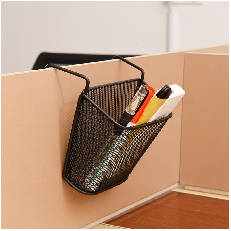 Metal Over Stationary Storage Organizer Pen Holder Or Basket - Hang Over Hang Up Pencil Holder With Pothook