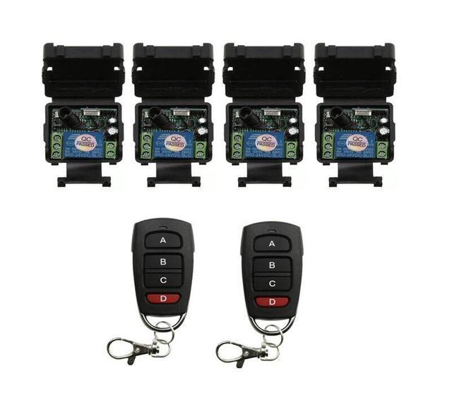 Universal DC 24 v 1 canal mini sem fio RF switch controle remoto transmissor receptor 315/433 mhz