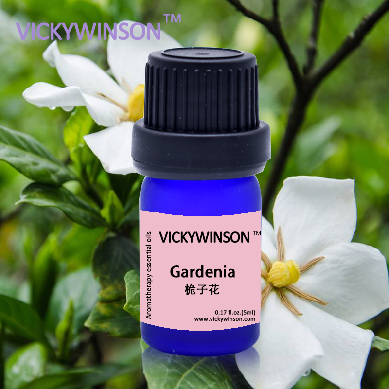 Купить с кэшбэком VICKYWINSON natural Gardenia oil Relax nerve Moisturizing and nourishing the skin Gardenia essential oil 5ml deodorization