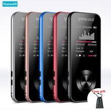 Yescool металлический Спортивный MP3 плеер без потерь портативный walkman mini USB Встроенный динамик fm-радио электронная книга часы HIFI музыкальный плеер SD 8G