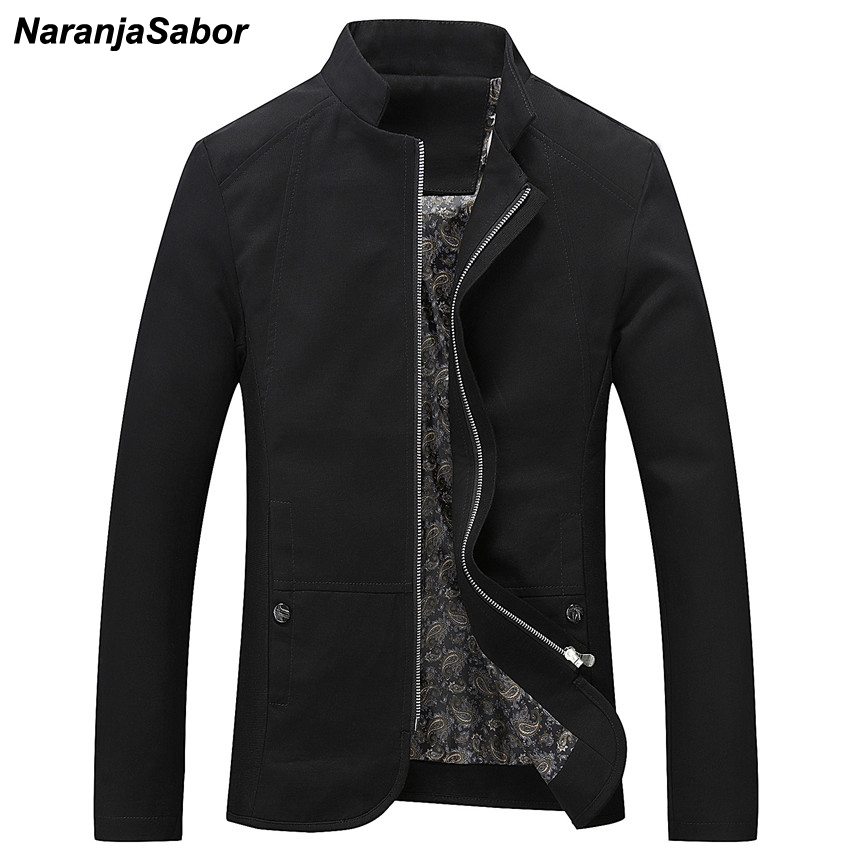 NaranjaSabor Mens Brand Clothing 2019 Spring Autumn Men's Casual Jackets Cotton Outerwear Mens Coats Trench Male Windbreaker 5XL