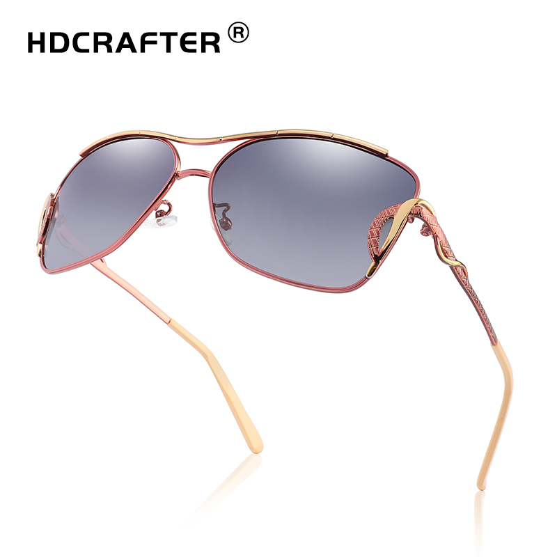 HDCRAFTER sunglasses women polarized vintage butterfly Fashion Ladies Sun Glasses Female Gradient oversized women sunglasses in Women 39 s Sunglasses from Apparel Accessories