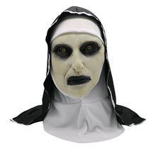 Nun Mask Suitable for Adult Kid Unisex Halloween Horror Scary Frightened Female Ghost Face Tricky Party