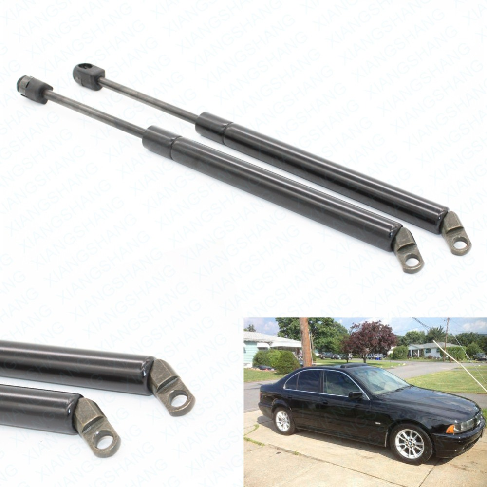 2PCS Tailgate Trunk Boot Lift Supports Gas Struts Spring for BMW E39 525i 528i 530i 540i M5 Sedan 1997-2001 2002 2003 347 MM brand new for bmw e61 air suspension spring bag touring wagon 525i 528i 530i 535i 545i 37126765602 37126765603 2003 2010