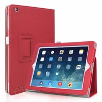 2016 Deluxe Flip Stand Leather Case For IPad 2 3 4 Fashion Wallet Lychee Book Pattern