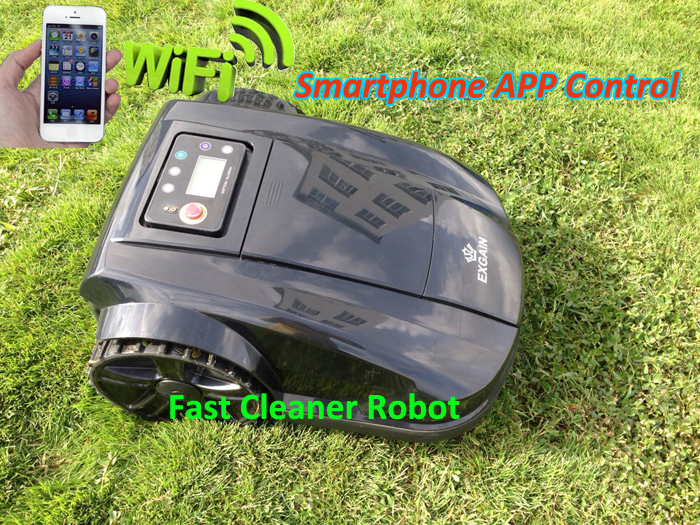 Hot Sale Robot Lawn Mower Black Grass Cut Machine With Water-proofed charger and WIFI Smartphone Control