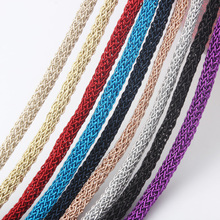 OlingArt 5.5mm 10M/lot Multicolor Round metal Soft wire/Cord /Rope earrings Bracelet choker necklace DIY jewelry making tyry hu 10m soft satin nylon multicolor cord solid rope for jewelry making beading cotton cord for baby 2mm diy necklace pendant