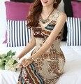 2016 vestidos de Verão moda marca vestidos Longuette Para férias de Praia estilo Boemia Com Decote Em V Rendas flor Gancho Vestido