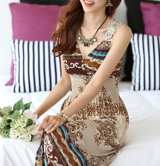vestidos de Verano vestidos de la marca de moda estilo Longuette Para vacacione