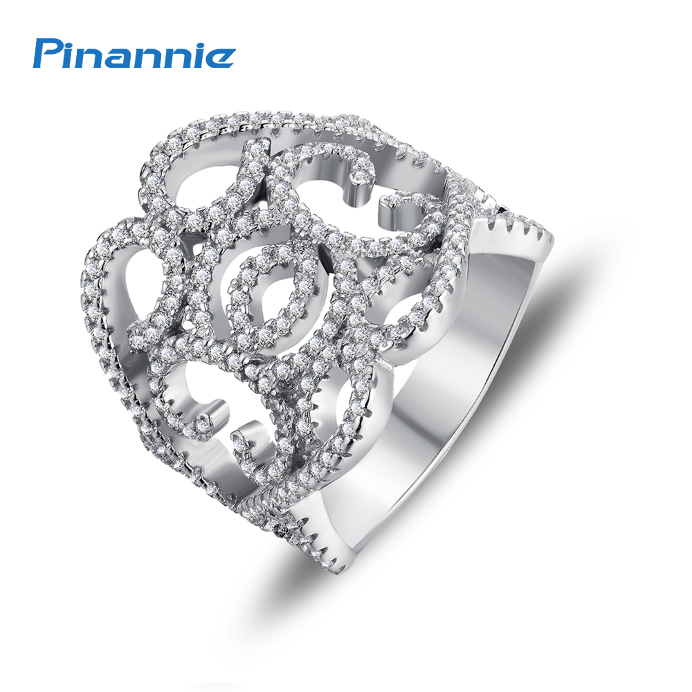 dedef47011d9 Pinannie Genuine 925 Sterling Silver Jewelry Anillos Joyas de plata 925  Wedding Rings for Women