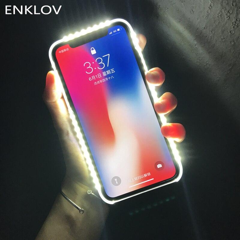 Licht Glow Telefon Fall Für iphone x Fall Foto Füllen Licht Artefakt Für iphone 7 plus Selfie Mobile Shell Für iphone 6 Fall Fällen