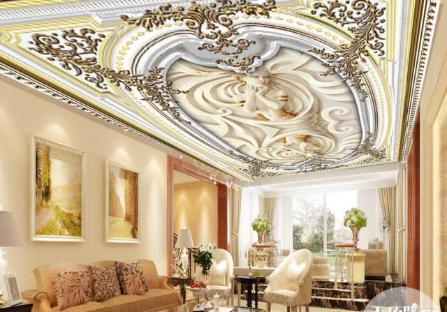 neue klassische decke wandmalereien tapete europ ischen. Black Bedroom Furniture Sets. Home Design Ideas