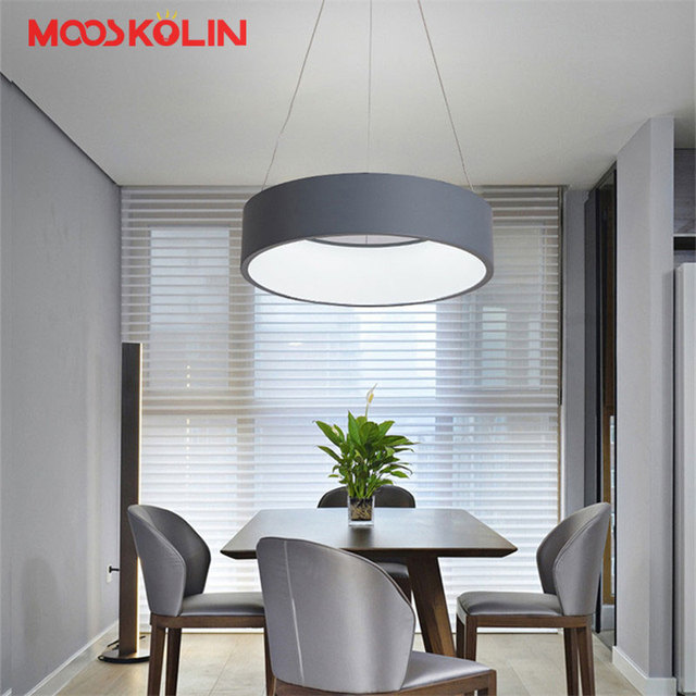 Modern d4560cm round circle hanging lamp 85 265v led restaurant modern d4560cm round circle hanging lamp 85 265v led restaurant dining room kitchen mozeypictures Gallery