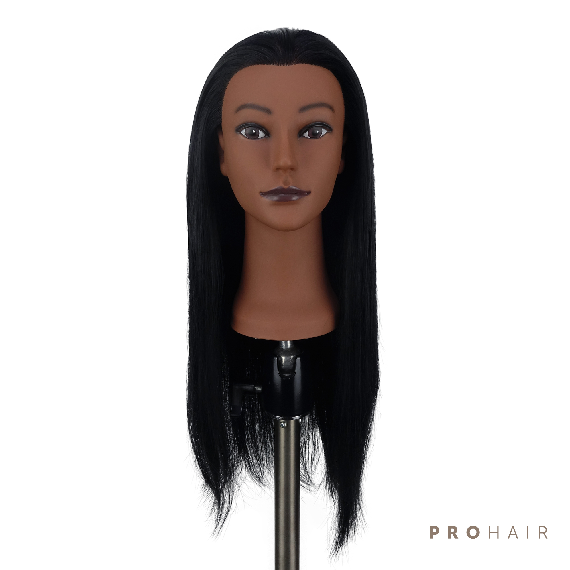 PROHAIR 45CM 18 100 Synthetic Hair Black MINI Training Head Salon Female Mannequin Head Hairdressing Practice