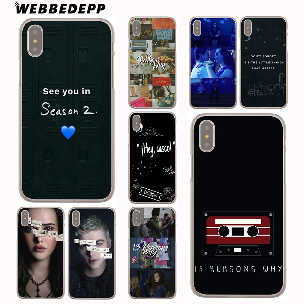 WEBBEDEPP <font><b>13</b></font> <font><b>reasons</b></font> <font><b>why</b></font> netflix Hard Cover <font><b>Case</b></font> for <font><b>iPhone</b></font> X or 10 8 7 6 6S Plus 5 5S SE 5C 4 4S