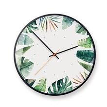 Mute Wall Clock Round Mechanism Electronic Quartz Metal Roman Numerals Home Watch  Klok Decor Kitchen5K529