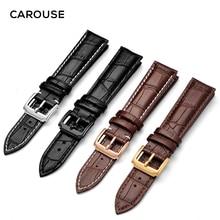 Carouse ремешок для часов из натуральной телячьей кожи 18 мм 20 мм 22 мм 24 мм ремешок для часов Tissot Seiko аксессуары браслет