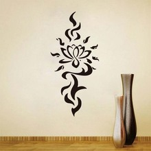 Dctop High Quality White Lotus Wall Stickers Diy Home Decor Vinyl Removable Art Mural Decals
