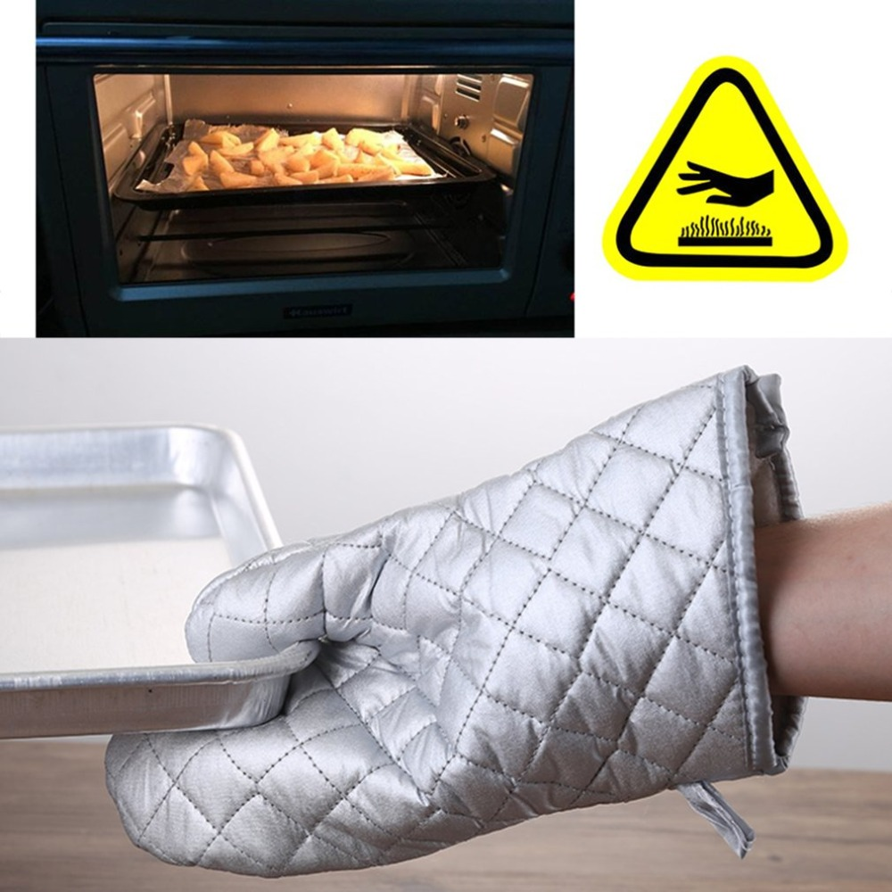 Heat Resistant Household Safety Gloves For Barbecue Microwave Oven Baking Gloves Kitchen High Temperature Anti Hot Insulation