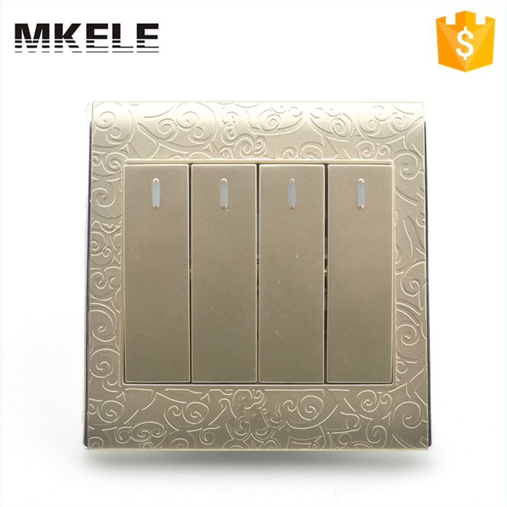 Online Shop Best Price MK-WS05008 Impact Resistance Wholesale Classical 4  Gang 2 Way Wall