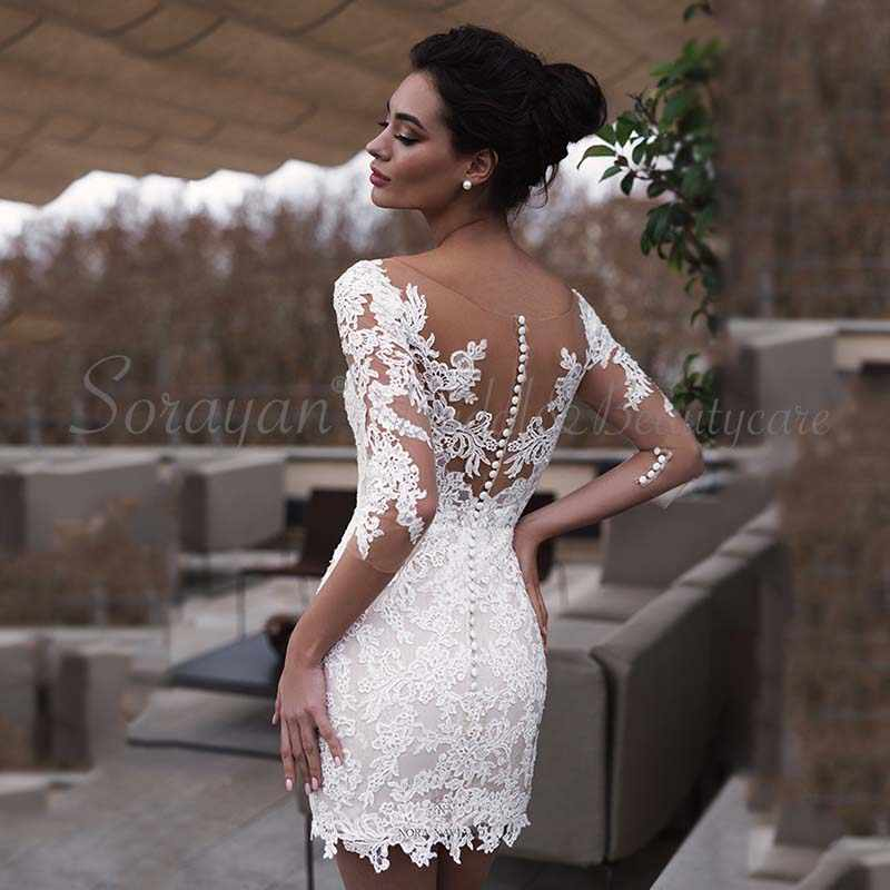 Sexy Unique V Neck Boho Inspired Beach Short Wedding Dresses 2019 Detachable Train Casual Tulle Chic Lace Bridal Gowns Ax133 Aliexpress,Dress For Summer Wedding Guest