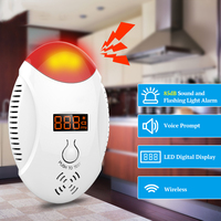 Wireless Carbon Monoxide CO Detector Voice Strobe Alarm Sensor For S Home Alarm System Fire Detector