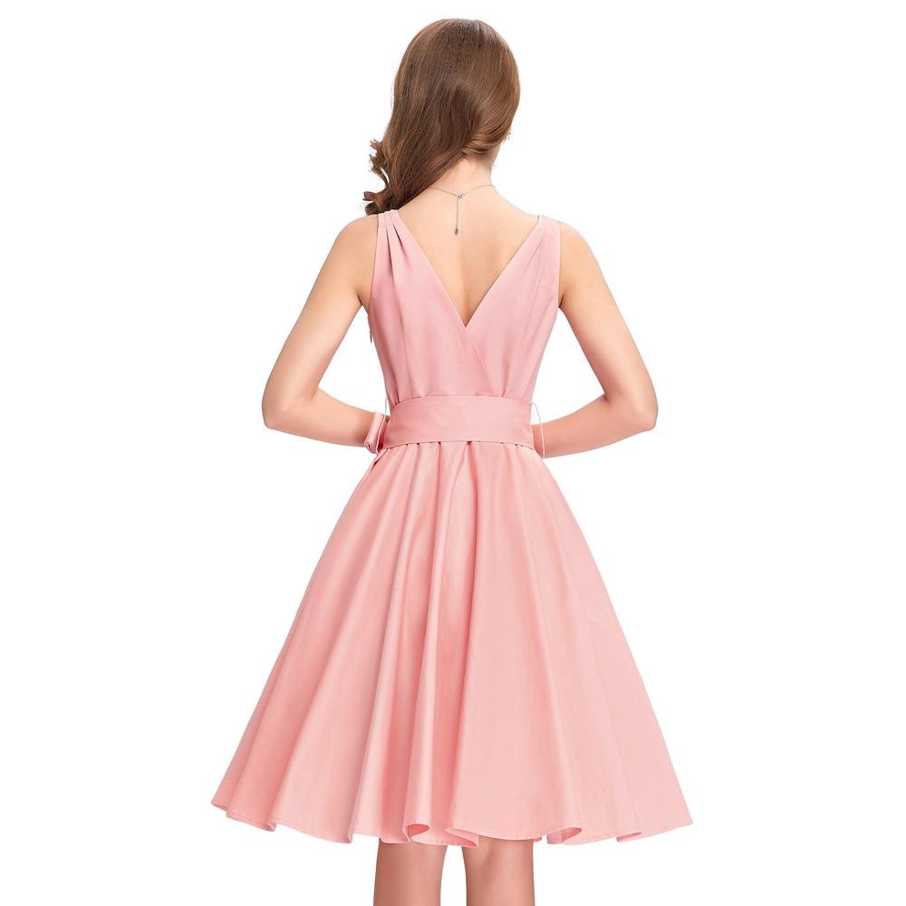 Excelente Vestido De La Dama De Honor Del Rockabilly Galería ...