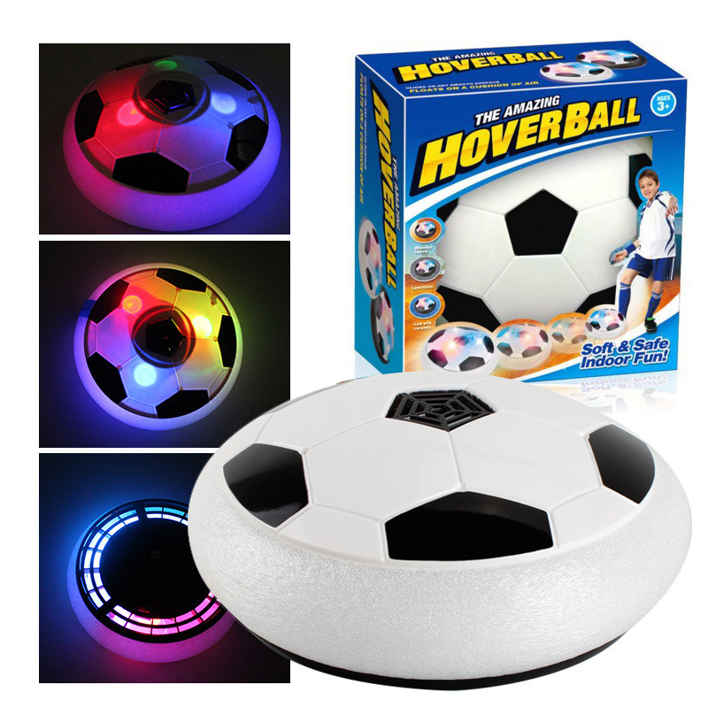 Newest Safe Indoor Kids Sports Ball Air Power Soccer Disk Game Bright Light Electric Suspension Football Toy For Children