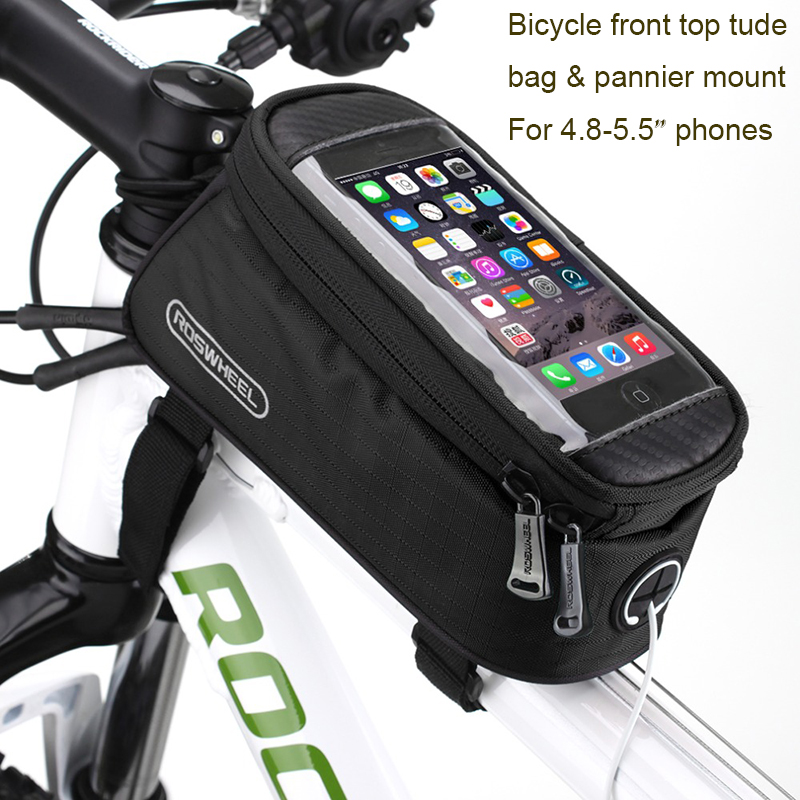 Bike Bicycle Front Tube Bag 6.5Inch Phone Touch Screen Storage Box Cycling S2