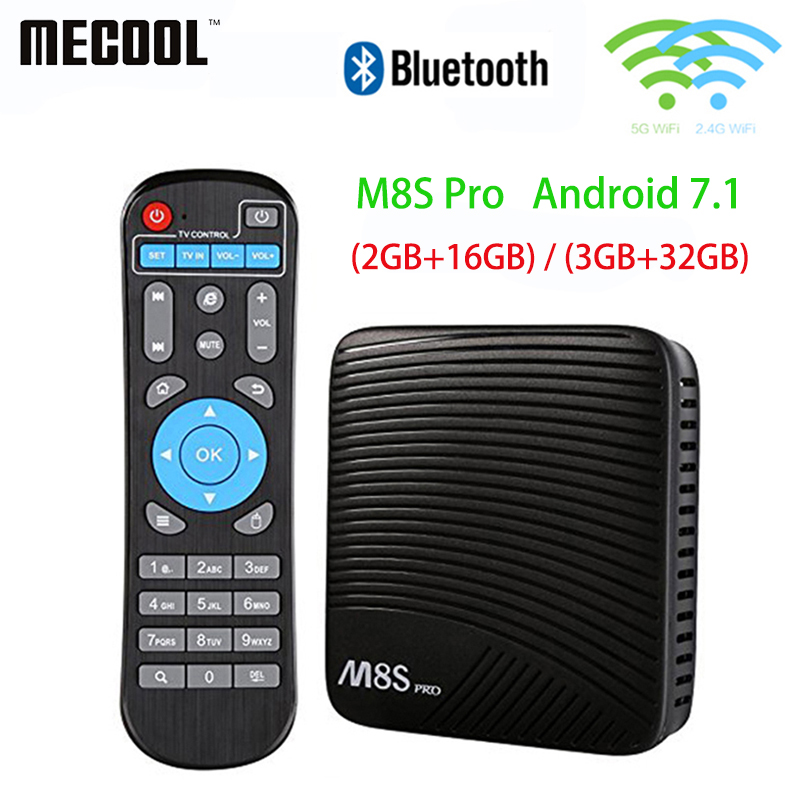 Mecool M8S Pro TV Box Smart Android 7.1 TV Box Amlogic S912 Dual WiFi BT4.1 2G/16G 3G/32G 4K HD Set Top Box x9 pro amlogic s905x 2g 16g 4k tv box tronsmart tsm01